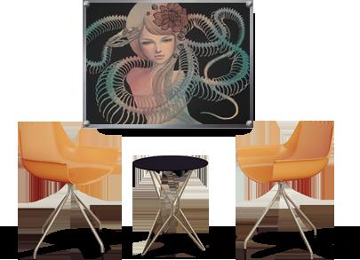 full color acrylic print