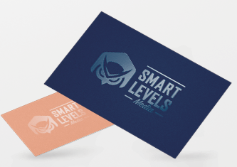 Business cards design custom cards smart levels printing full color high quality business cards reheart Choice Image