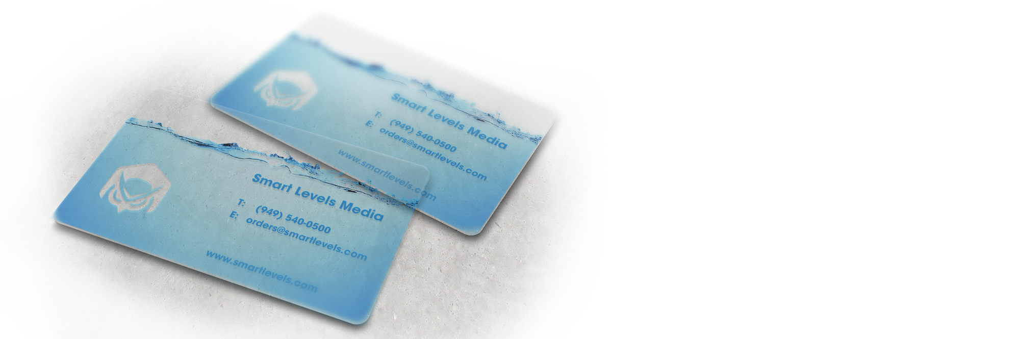 Clear Plastic Business Card 3.5\