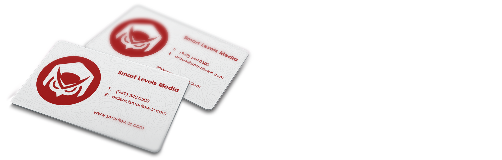 White plastic business card 35 x 2 smart levels printing reheart Choice Image